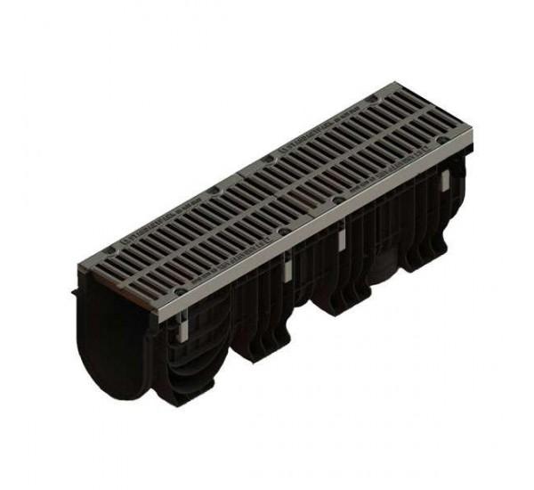 Лоток водоотводный пластиковый PolyMax Drive с щелевой решеткой 0856034 (комплект)