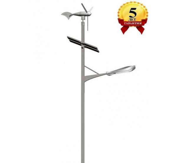 Комплект солнечного-ветрового гибридного светильника марки Солярис L03-120Wt-Hybrid