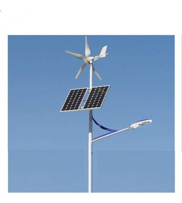 Комплект солнечного-ветрового гибридного светильника марки Солярис L03-80W-Hybrid
