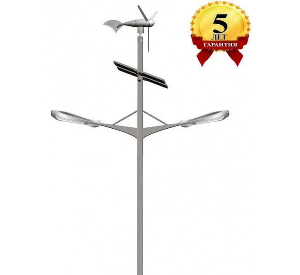 Комплект солнечного светильника марки Солярис L04-60W/60W-Dual Hybrid