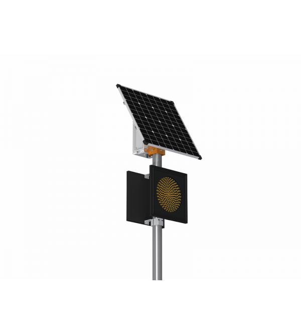 Солнечный двухсторонний автономный светофор Т7-LT-2 с мигающим сигналом