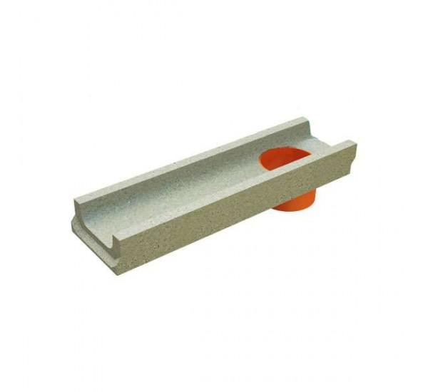 Лоток водоотводный бетонный BetoMax Basic DN100 H60 с вертикальным водоотводом