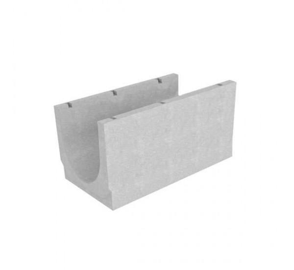 Лоток водоотводный бетонный BetoMax Basic DN500 без усиливающих насадок и решеток кл. D 4909