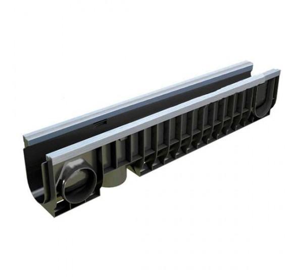 Лоток водоотводный пластиковый PolyMax Basic DN100 H200 усиленный 8047