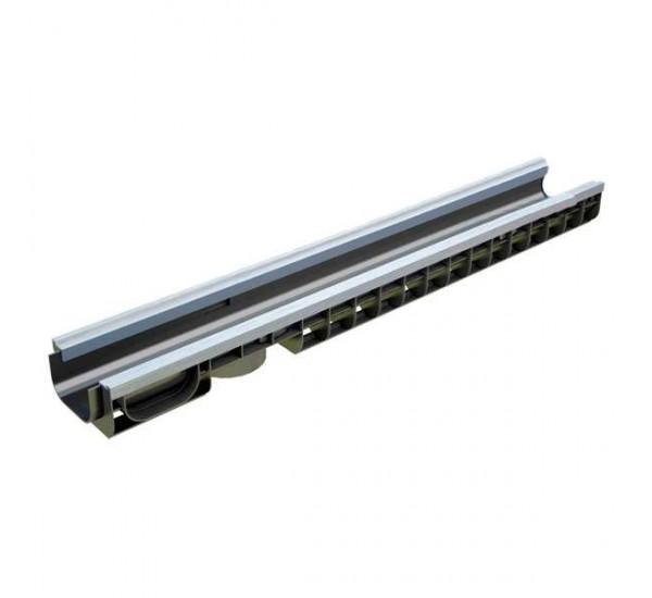 Лоток водоотводный пластиковый PolyMax Basic DN100 H80 усиленный 8017