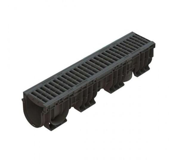 Лоток водоотводный пластиковый PolyMax Basic DN150 H217 (комплект) 0824011