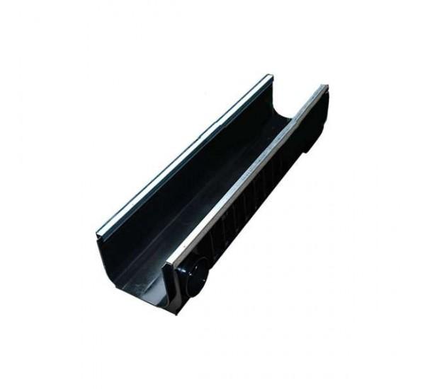 Лоток водоотводный пластиковый PolyMax Basic DN200 H200 усиленный 8547