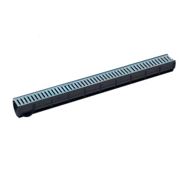 Лоток водоотводный пластиковый Spark cо стальной решеткой кл. А (комплект) 088011