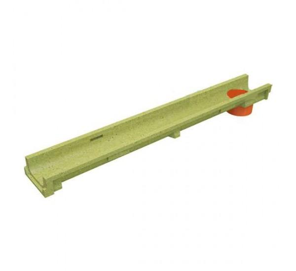 Лоток водоотводный полимербетонный CompoMax Basic DN100 H60 с вертикальным водоотводом