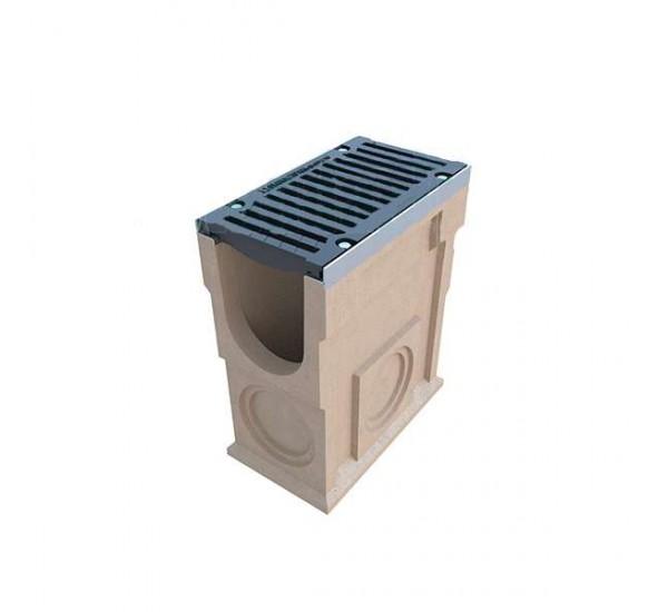 Пескоуловитель полимербетонный CompoMax DN200 с чугунной решеткой (комплект) 075...