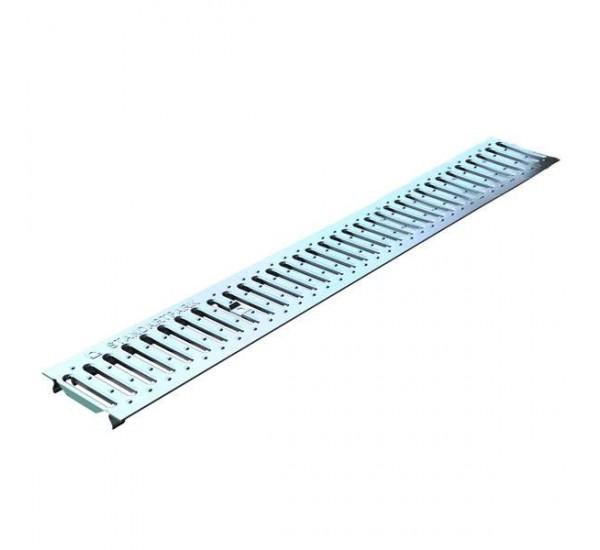 Решетка водоприемная Basic DN100 нержавеющая сталь (штампованная) РВ-10.14.100-К 20901