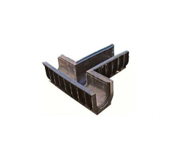 Тройник 90 для лотка водоотводного PolyMax Basic пластикового (правый)